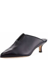 Tibi Dana Leather Low Heel Mule Pump