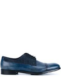 Dolce & Gabbana Denim Detail Oxford Shoes