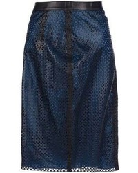 Balmain Pierre Laser Cut Skirt