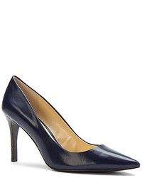Lauren Ralph Lauren Adena Pump Modern Navy Leather