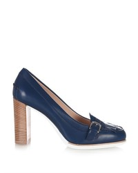 Tod's Gomma Round Toe Leather Pumps