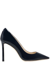 Jimmy Choo 100mm Romy Patent Leather Pumps