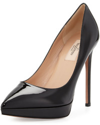 Valentino Leather Pointed Toe Platform Pump