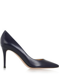 Gianvito Rossi Leather Pumps Navy