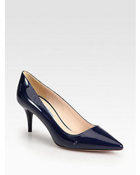 Prada Patent Leather Point Toe Pumps