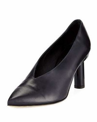 Tibi Zuri Smooth Leather High Vamp Pump