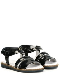 Armani Junior Velcro Ankle Strap Sandals