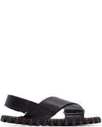 Valentino Black Leather Sandals