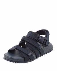 Versace Greek Key Multi Strap Sandal Navy