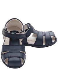 IM Link Navy Fisherman Style Velcro Closed Heel Sandals Little Boys 12