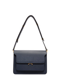 Marni Blue Saffiano Medium Trunk Bag