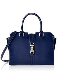 Calvin Klein Patent Leather Satchel Bag