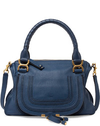Chloé Chloe Marcie Medium Satchel Bag Navy