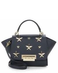 Zac Posen Eartha Leather Star Studded Crossbody Bag