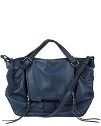 Kooba Gwenyth Leather Satchel Bag Navy
