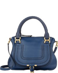 Chloé Marcie Medium Satchel Blue