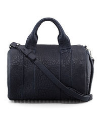 Alexander Wang Rocco Stud Bottom Satchel Bag Navy