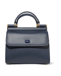 Dolce & Gabbana Sicily Small Textured Leather Tote