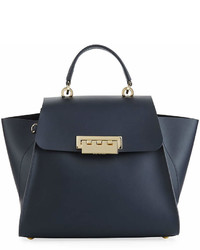 Zac Posen Zac Eartha Iconic Leather Top Handle Bag With Star Strap