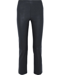 By Malene Birger Floridia Cropped Leather Slim Leg Pants