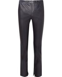 Helmut Lang Leather Slim Leg Pants