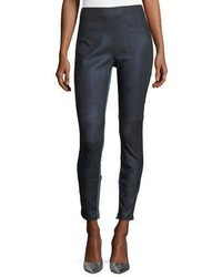 Roxanna skinny denim effect leather pants medium 5253461