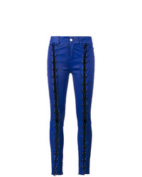 Skinny lace up leather trousers medium 8561694