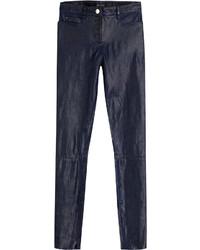Slim leather pants medium 745062
