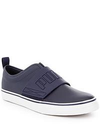 Puma El Rey Fun Leather Rubber Slip On Sneakers