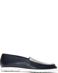 Maison Martin Margiela Navy Leather Loafers