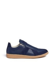 Maison Margiela Replica Suede Trim Leather Slip On Sneakers