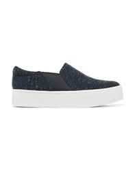 Vince Warren Tweed Slip On Sneakers