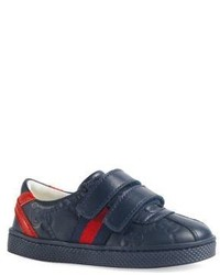 Gucci Babys Toddlers Leather Slip On Sneakers