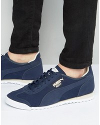 Puma Roma Og Leather Sneakers In Blue