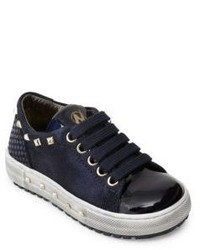 Naturino Toddlers Kids Patent Leather Suede Sneakers