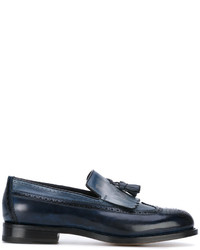 Santoni Tassel Brogue Loafers