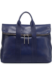3.1 Phillip Lim 31 Hour Fold Over Tote Bag Navy
