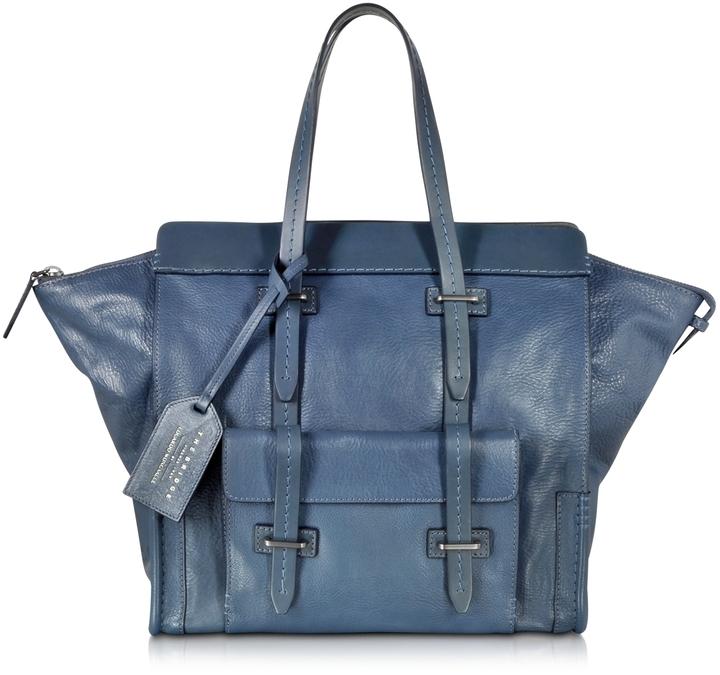 57f4968792 Corroco Leather Handbag Navy Blue Cuir Boutique Gallery