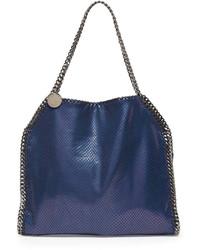 Stella McCartney Baby Bella Faux Python Tote Bag Navy