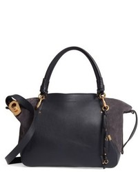 Chloé Chloe Medium Owen Calfskin Leather Tote Brown