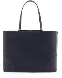 MCM Claudia Leather Shopper Bag True Navy