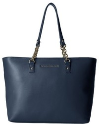 Tommy Hilfiger Eloise Pebble Leather Tote Tote Handbags