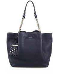 Tod's Flower Small Leather Chain Tote