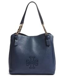 Tory Burch Harper Leather Tote Blue