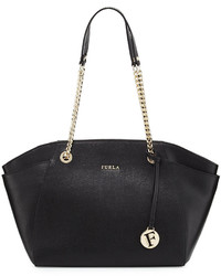 Furla Julia Medium Leather Tote Bag Onyx