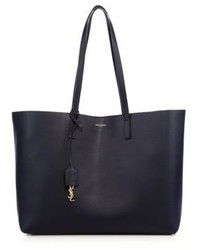 Saint Laurent Large Leather Shopping Tote
