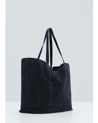Mango Outlet Leather Shopper Bag