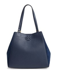 Tory Burch Mcgraw Leather Suede Satchel