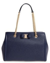 Salvatore Ferragamo Melike Grained Leather Bow Tote