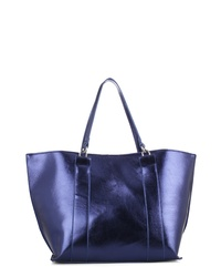 MALIBU SKYE Metallic Faux Leather Tote